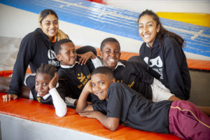 Trainers and Children at The Kids Gym Cape Town - Physical Literacy for Children (PLC)