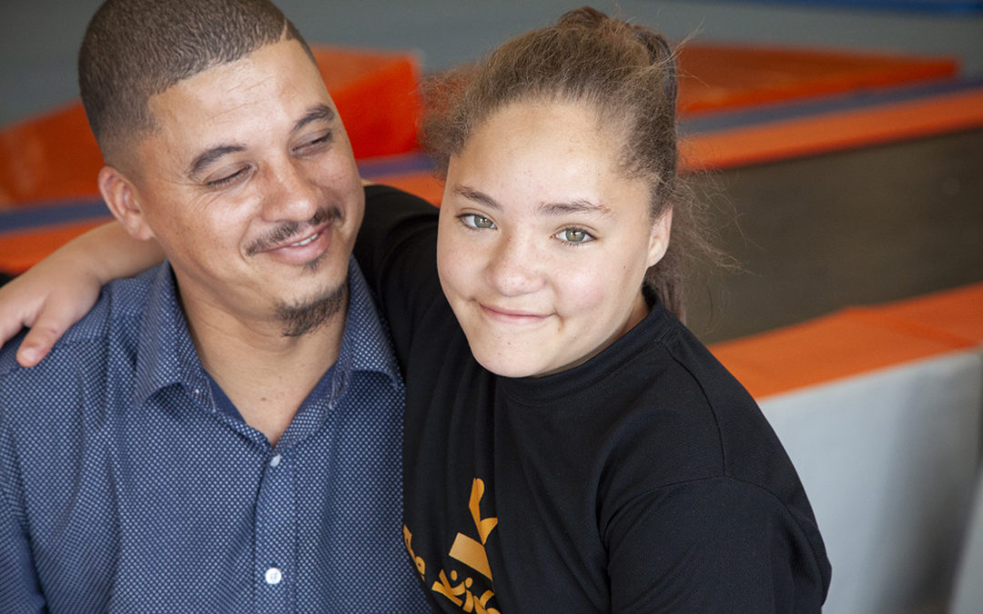This is Chelsea Cupido and her Dad, Leroy Cupido, in The Kids Gym